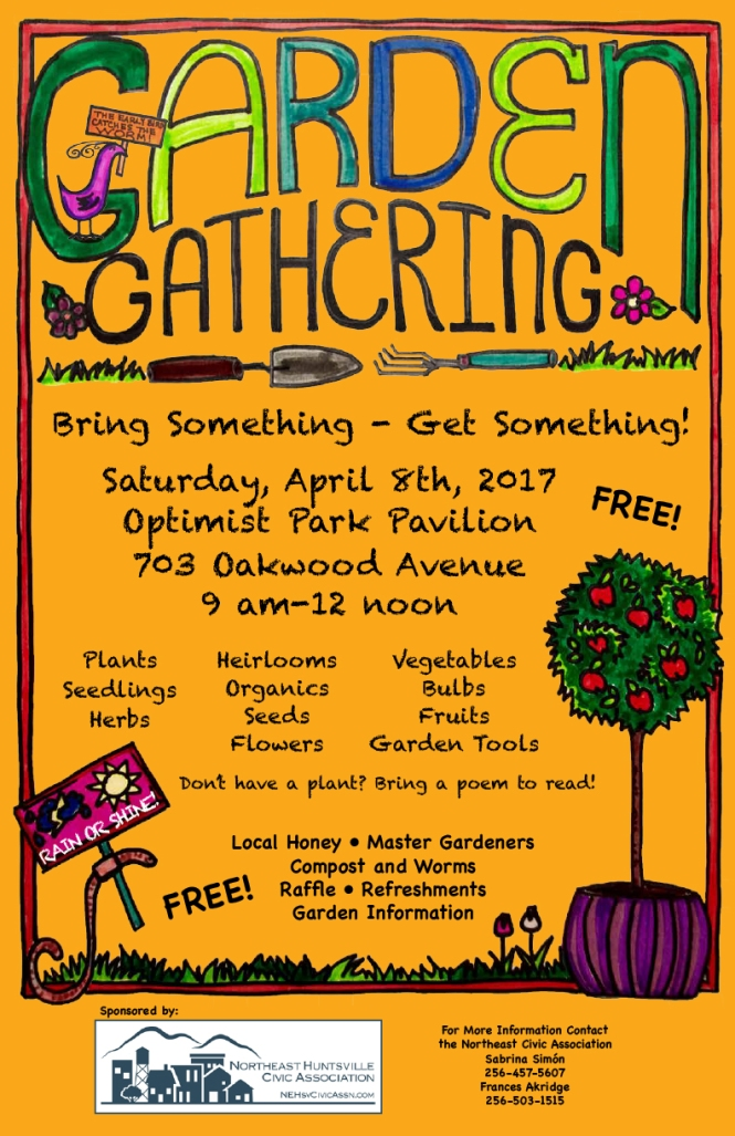 Garden Gathering Poster